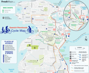 Saanich Peninsula Cycle Map