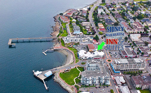 Sidney Waterfront Inn - with direct access to a beach.