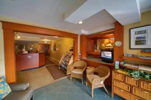 Sidney Waterfront Inn lobby